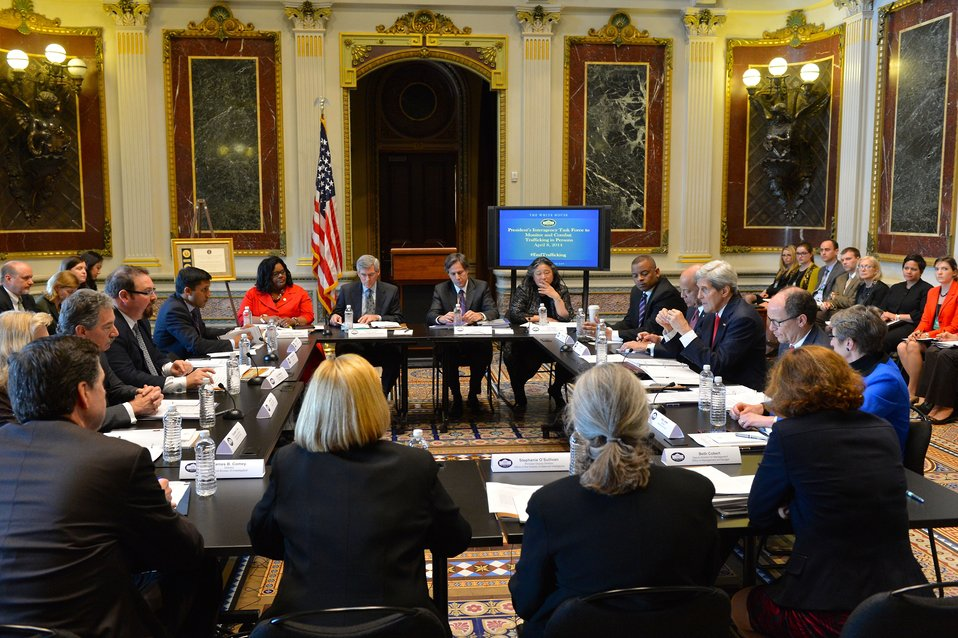 Secretary Kerry Chairs the President's Interagency Task Force to Monitor and Combat Trafficking in Persons