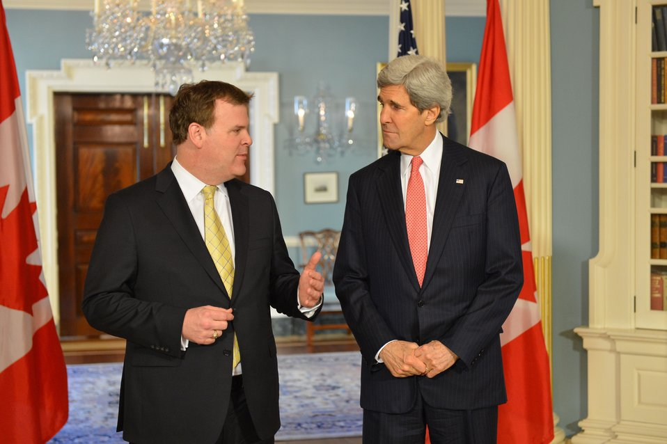 Secretary Kerry and Canadian Foreign Minister Baird Address Reporters