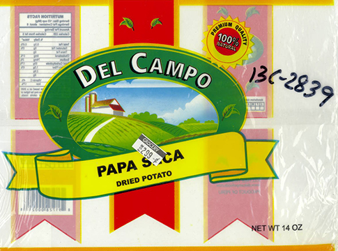 RECALLED – Del Campo Papa seca / DRY POTATO 24x14 oz.