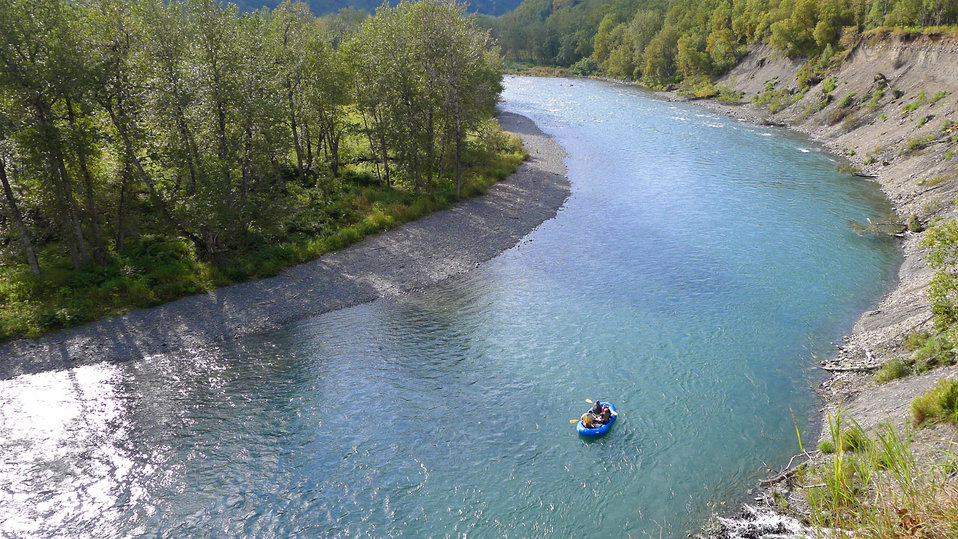 Floating the Uganik River