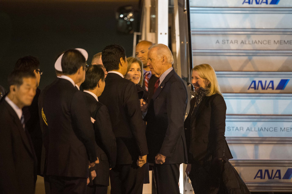 Vice President Biden Arrives in Japan