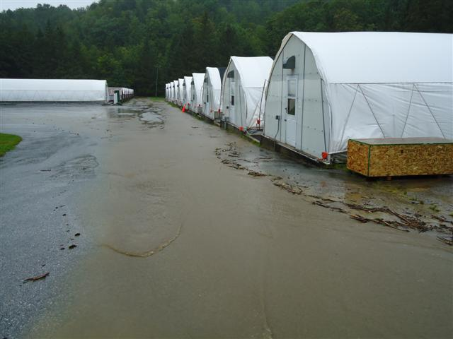 Storm damage at Eisenhower National Fish Hatchery in Vermont