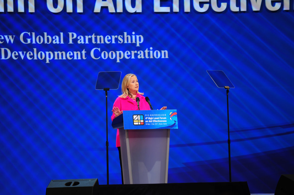 Secretary Clinton Delivers a Keynote Address