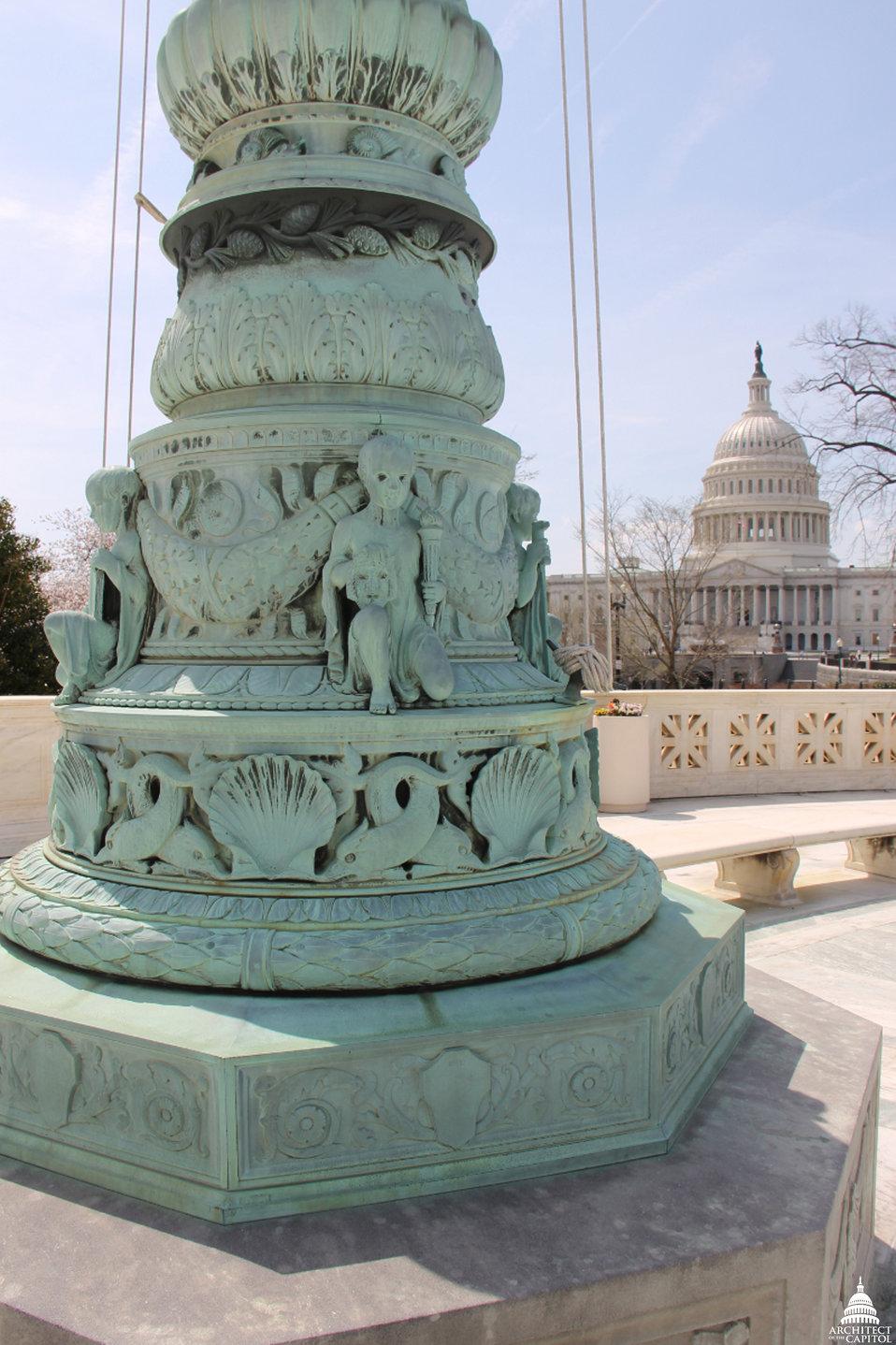 Flagpole outside Supreme Court