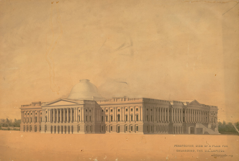 Plan for Capitol Extension Circa 1850
