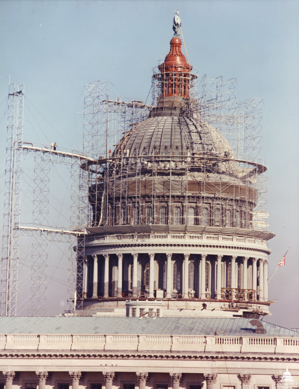 Red Lead Painting of Dome 1960