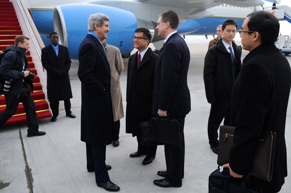 Secretary Kerry Arrives in Beijing, China