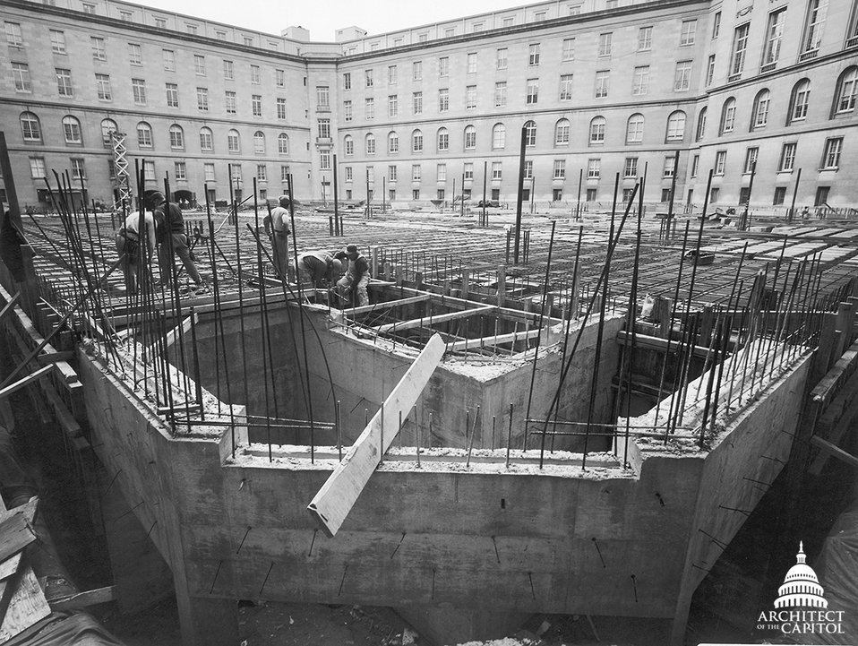 Cannon House Office Building Garage Construction 1958