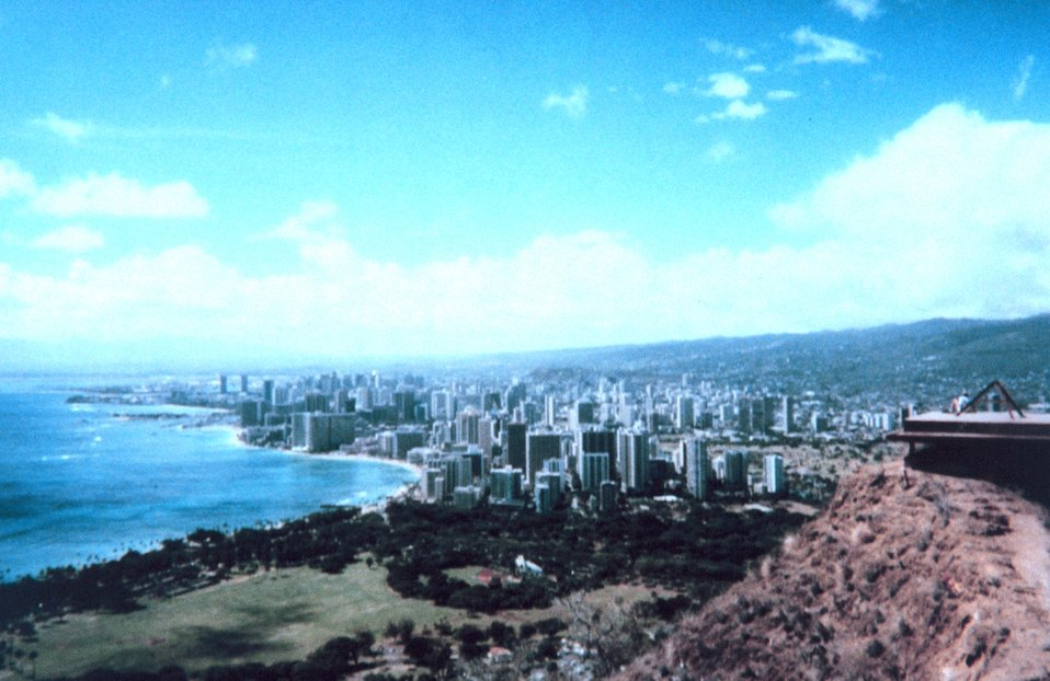 Honolulu as seen from Diamond Head looking west.