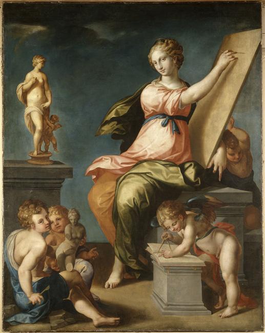 Ambroise Dubois 1543-1614 Allegorie de la Peinture et de la Sculpture..jpg