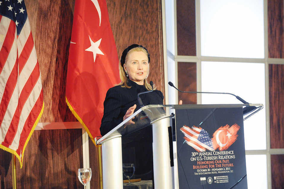 Secretary Clinton Delivers Remarks at 2011 Annual Conference on U.S.-Turkey Relations