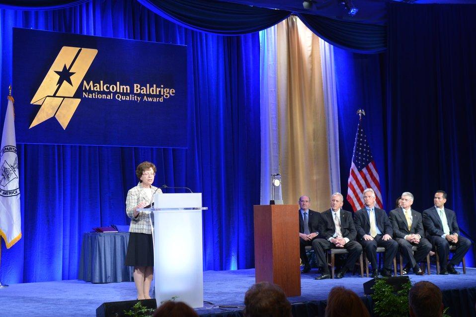 DoC Deputy Secretary Rebecca Blank at the 2012 Baldrige Award Ceremony