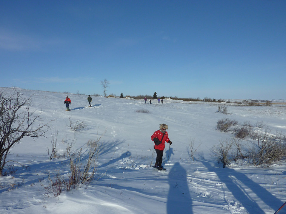 Let's go snowshoeing at Des Lacs Refuge