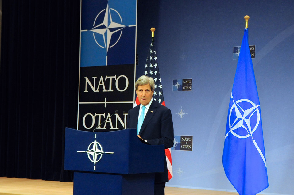 Secretary Kerry Addresses Reporters After NATO Ministerial Meetings