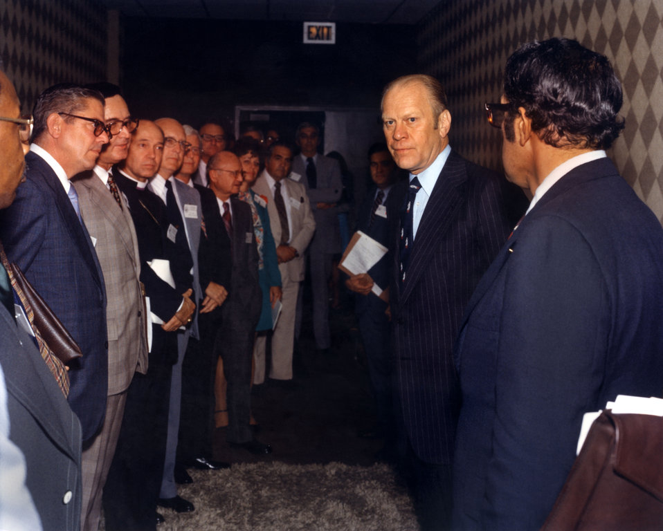 President Gerald Ford at Mid-Appalachia Governors Meeting Knoxville