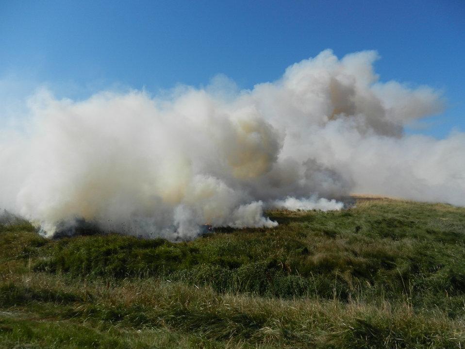 Fall Prescribed Burning on Des Lacs Refuge