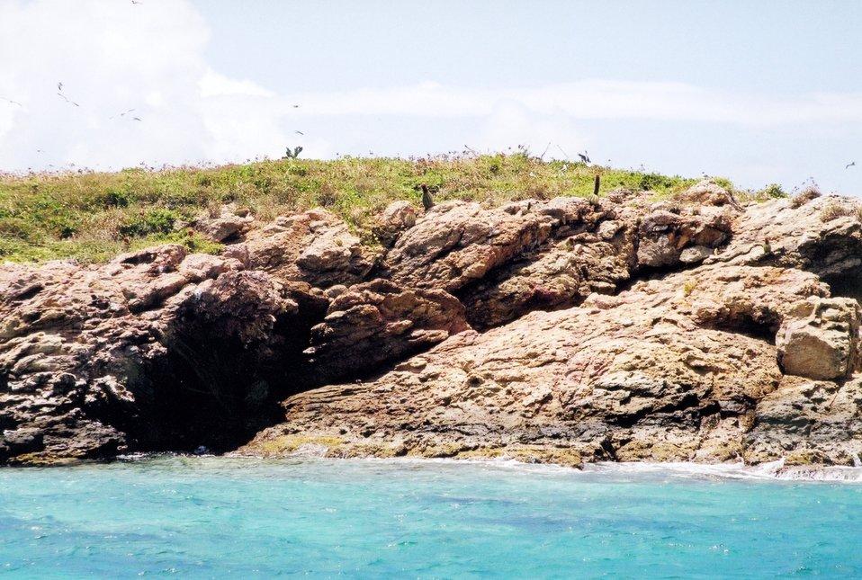A small island in Pillsbury Sound.