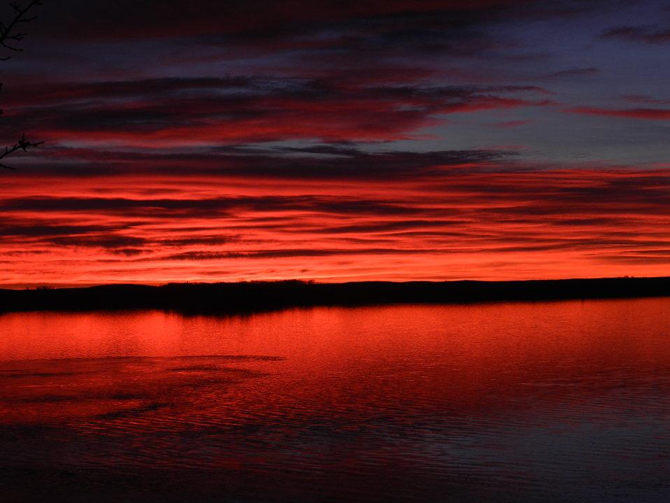 Sunrise at Waubay National Wildlife Refuge