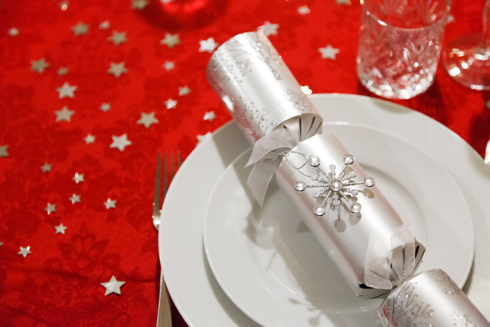 Christmas dining setting