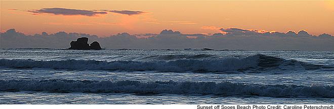 Sunset at Sooes Beach - Copalis National Wildlife Refuge