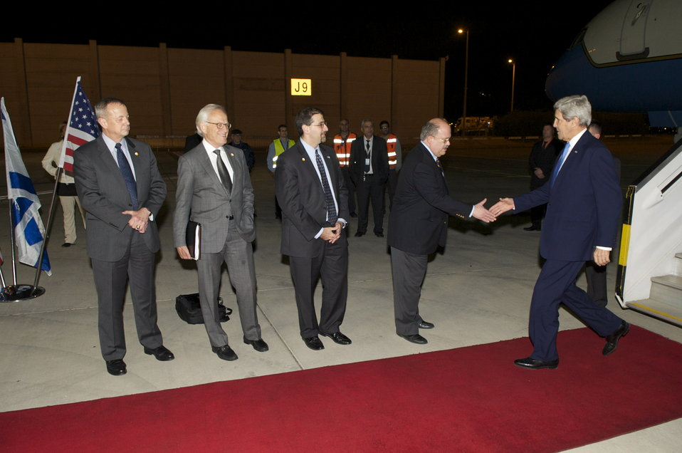 Secretary Kerry Arrives in Israel