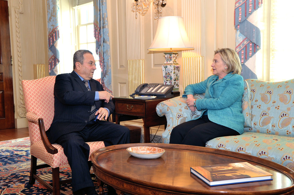 Secretary Clinton Holds a Bilateral With Israeli Defense Minister Barak