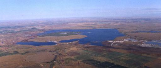Aerial of Bowdoin NWR