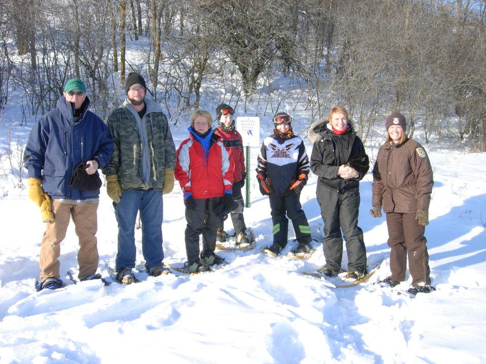 Morning Snowshoers