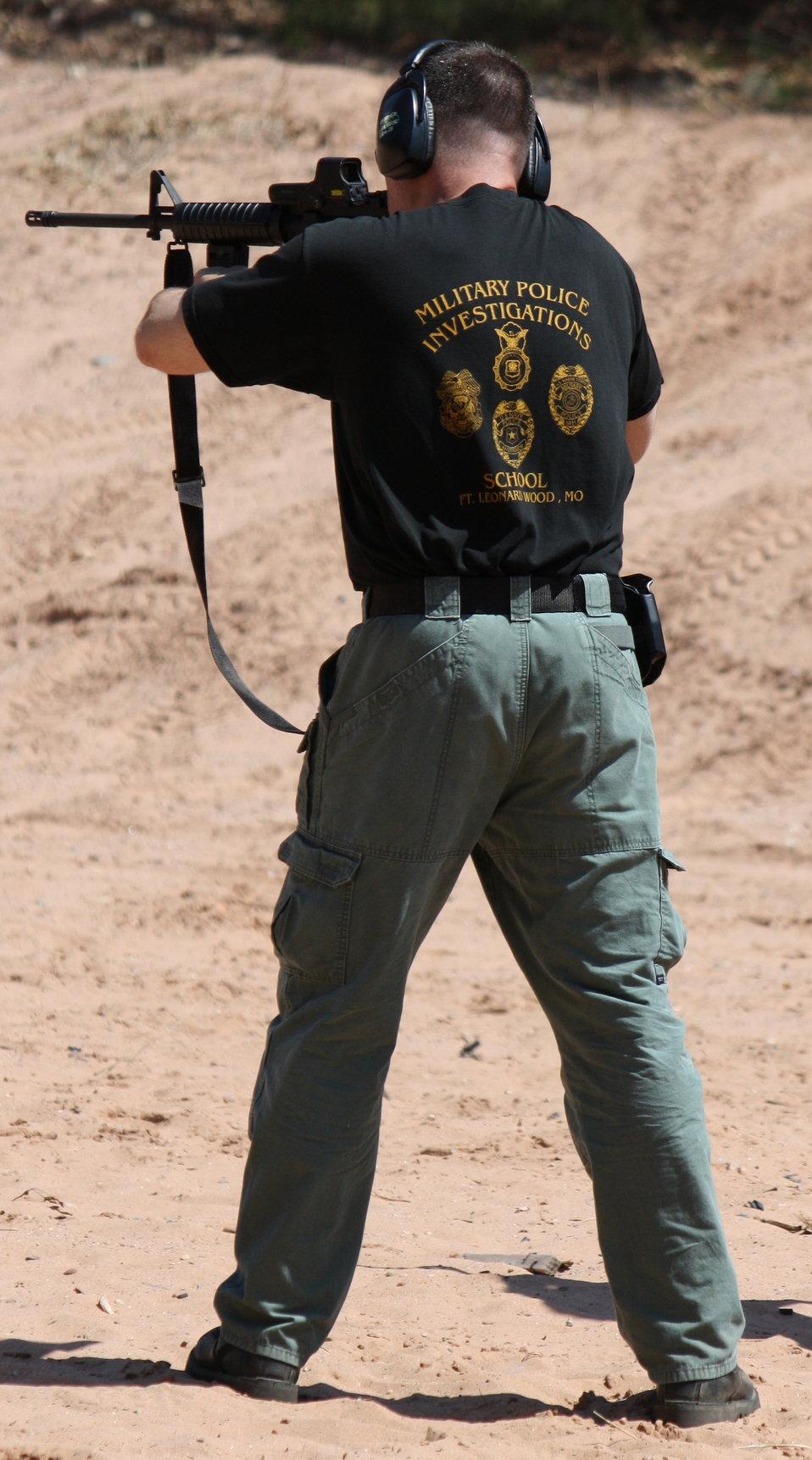 Special Agent Firing AR-15
