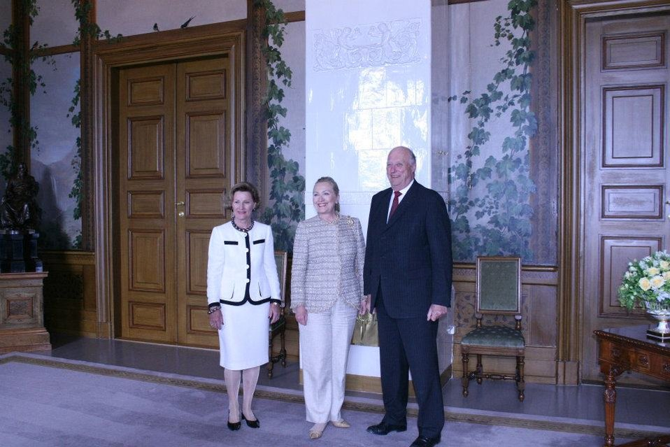 Secretary Clinton Meets With King Harald and Queen Sonja of Norway