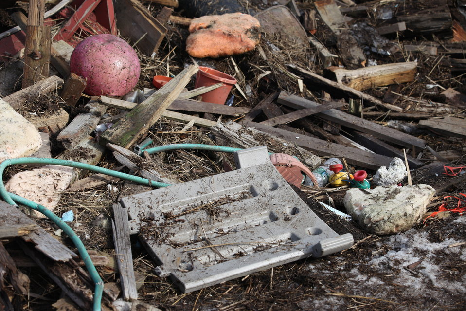 Debris at Lido Beach WMA