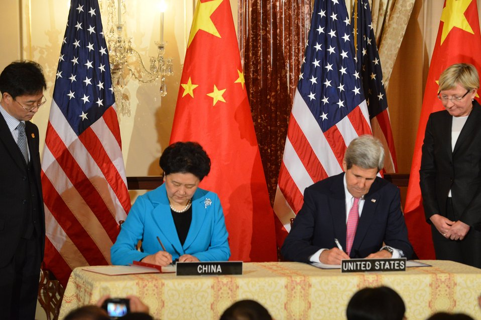 Secretary Kerry and Chinese Vice Premier Liu Yandong Sign an Updated MOU for the CPE