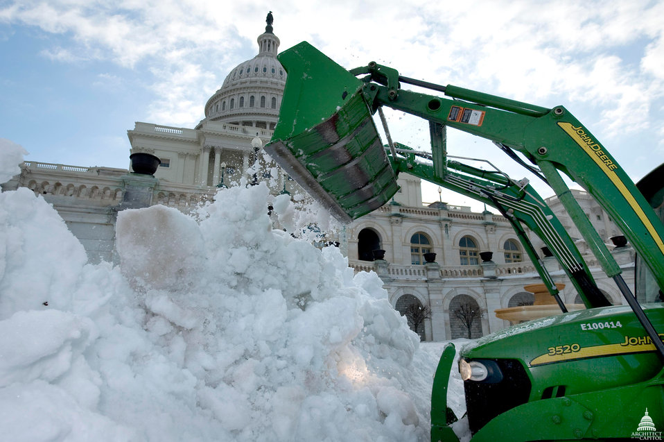 Snow Removal at the Capitol February 2010