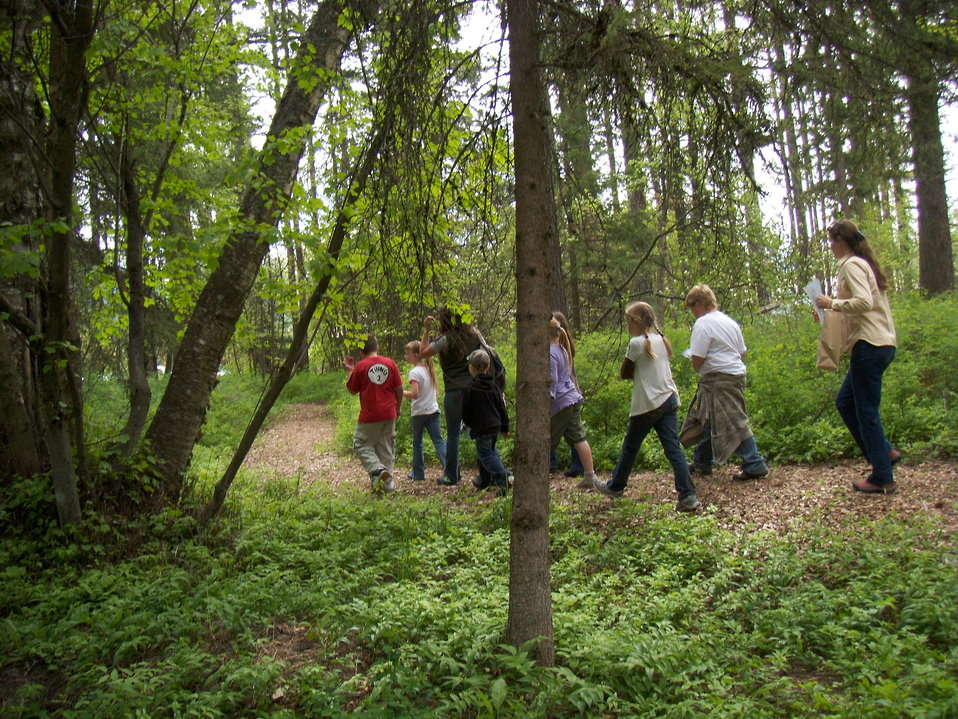 Local Schools use the Nature Trail at Creston National Fish Hatchery