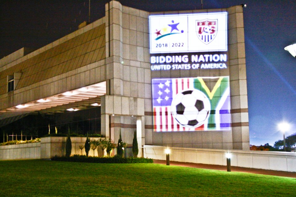 The U.S. Embassy in Pretoria Glows at Night