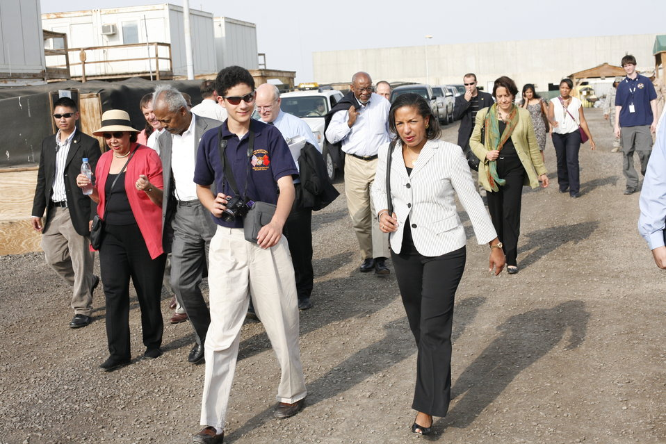 Ambassador Rice Visits Soldier in Djibouti