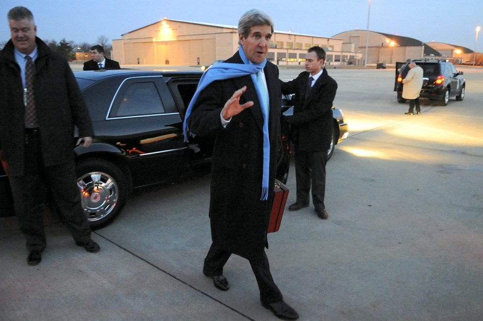 Secretary Kerry Arrives for Trip to Asia, Persian Gulf