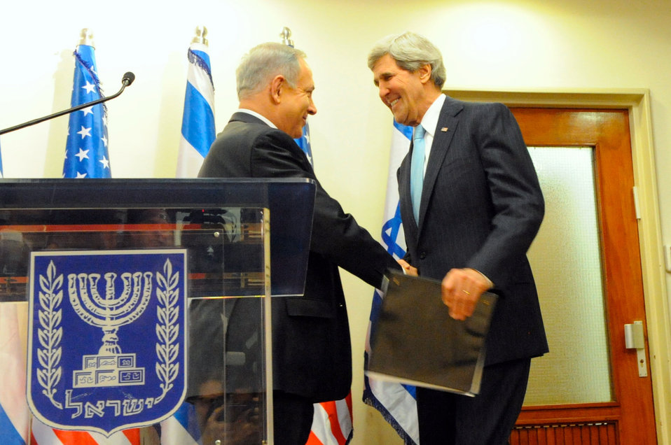 Secretary Kerry is Greeted by Israeli Prime Minister Netanyahu