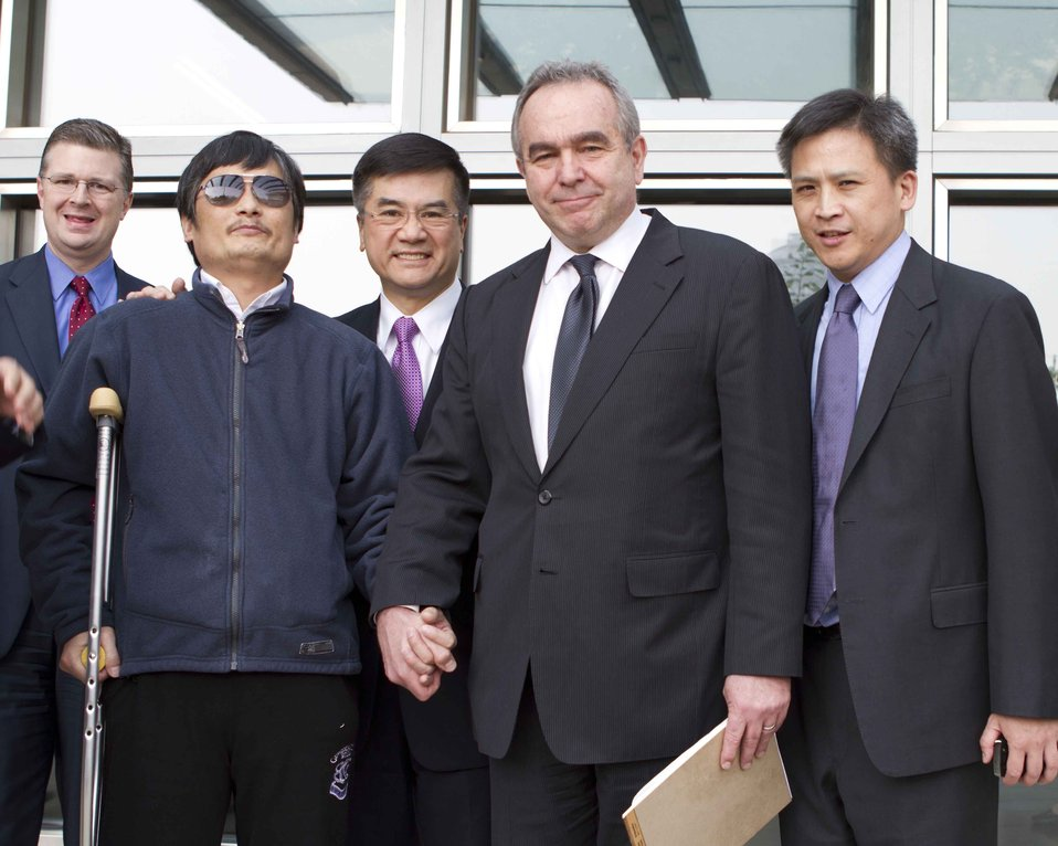 Assistant Secretary Campbell and Ambassador Locke With Chen Guangcheng
