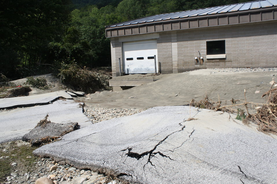 White River National Fish Hatchery facilities and roads were damaged
