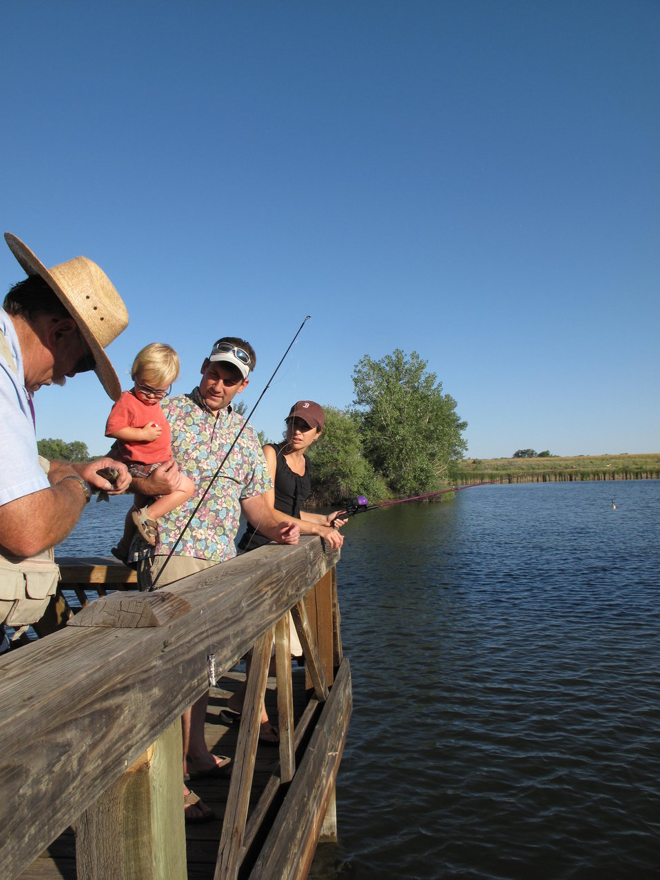 Fishing at the Rocky Mountain Arsenal.