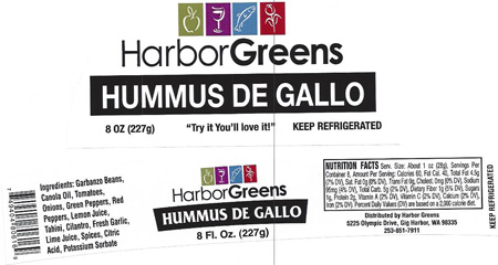 HarborGreens Hummus De Gallo Hummus 8oz