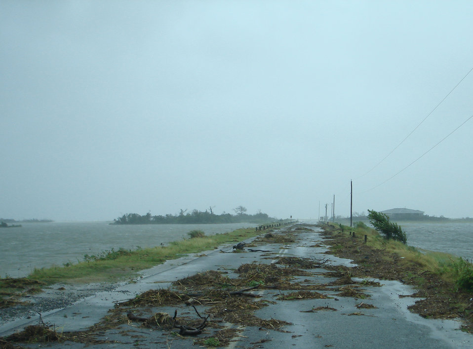Debris on Beach Road