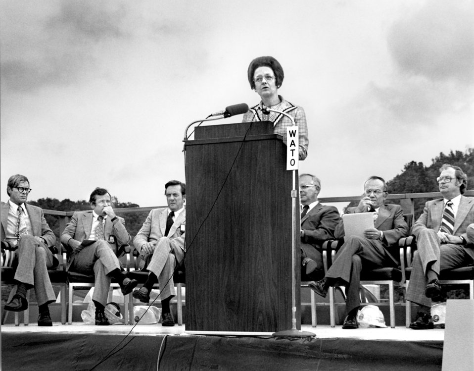 Congresswoman Marilyn Lloyd at ORNL Environmental Science Lab Ground Breaking Oak Ridge 1975