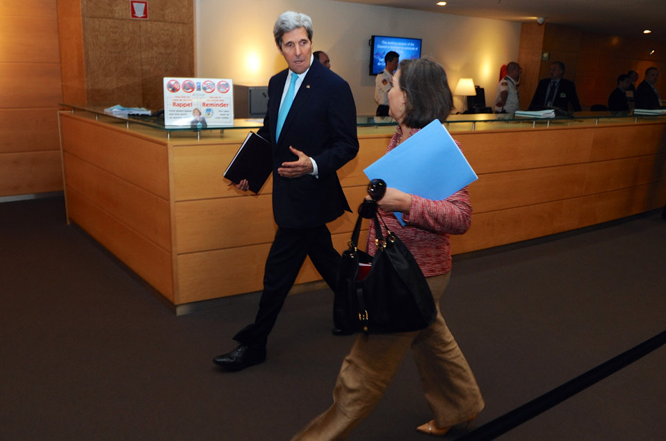 Secretary Kerry, Assistant Secretary Nuland Arrive for NATO Ministerial Meetings