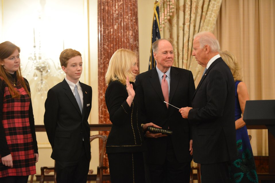 Vice President Swears in Ambassador Russell
