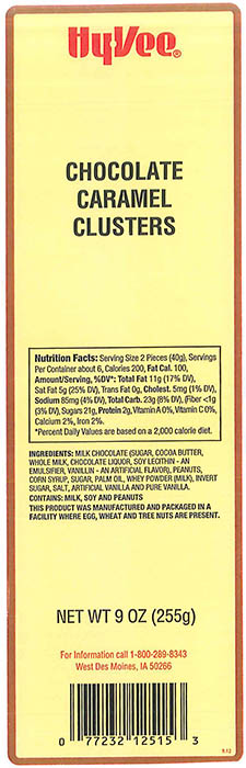 RECALLED – Chocolate Caramel Clusters and Chocolate Covered Caramels