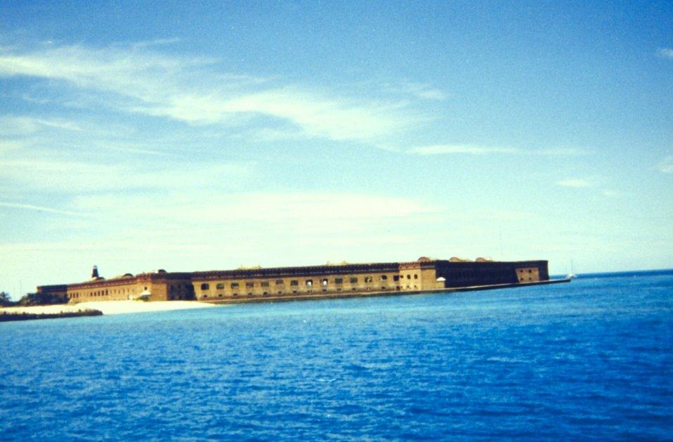 Approaching Fort Jefferson prior to disembarkation