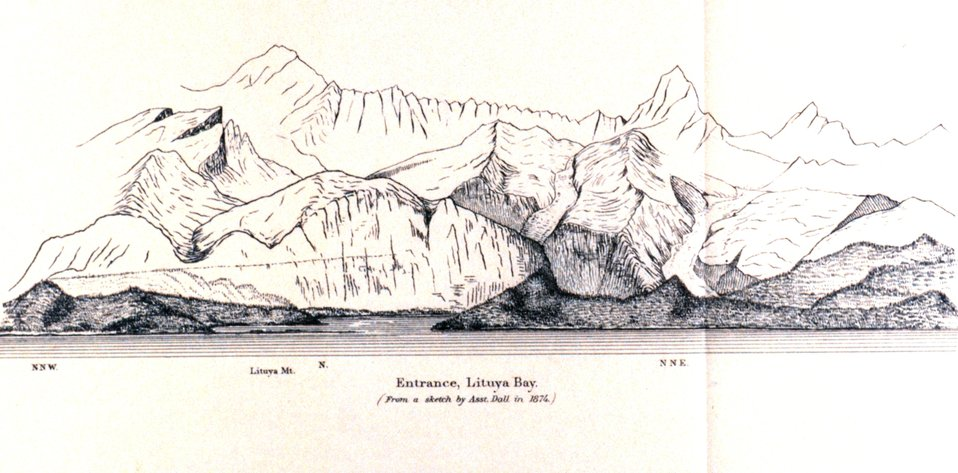 Entrance Lituya Bay.  In: Pacific Coast Pilot Alaska Part I 1883.  P. 202.  Library call number VK943 .N3 1883.