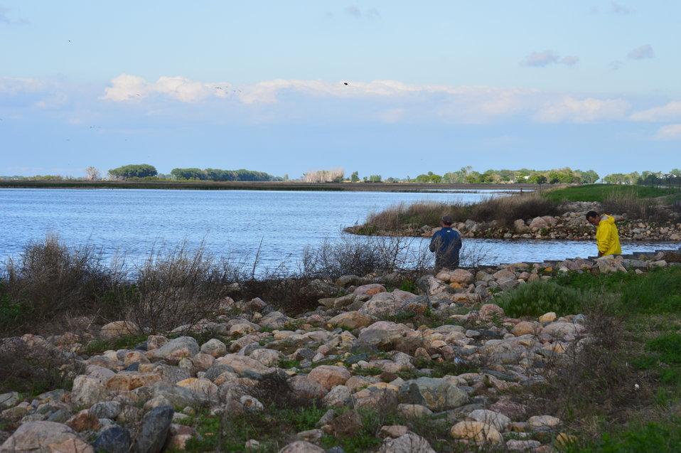 Fishing at Sand Lake